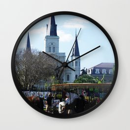 New Orleans Castle Wall Clock
