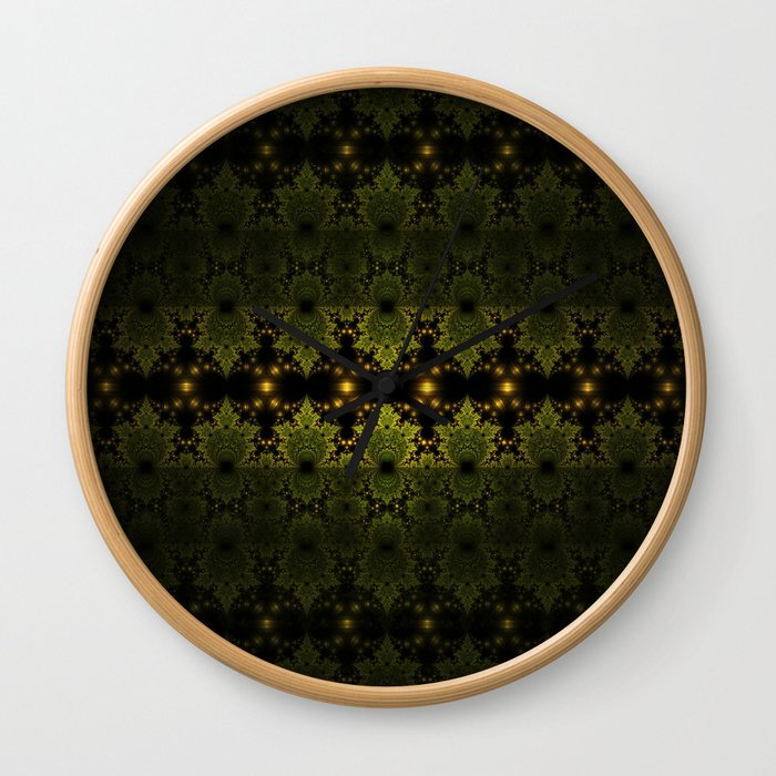 Fractal Martians Wall Clock