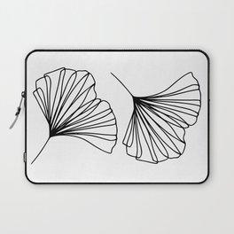 Ginkgo Leaves Minimal Line Art Laptop Sleeve