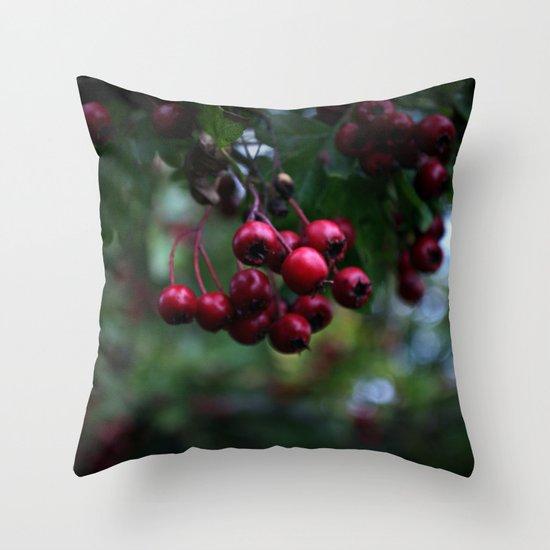 Pyracantha Throw Pillow