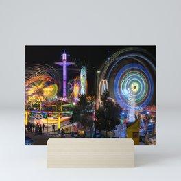 Fairground Attraction panorama Mini Art Print