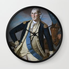 George Washington Painting Work Wall Clock