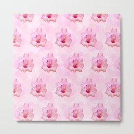 Pink Gladiolus flower Metal Print