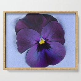 Ultra violet viola tricolor Serving Tray