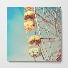 Ferris wheel, two baskets  Metal Print