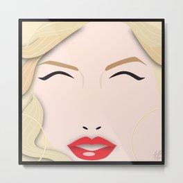 Christina Aguilera – Square:icature™ Metal Print