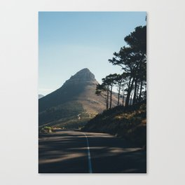 Til the road and sky align Canvas Print