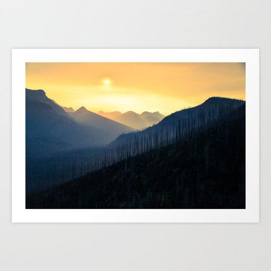 Sunrise Over Mountains Art Print