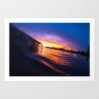 Smooth Ocean Art Print