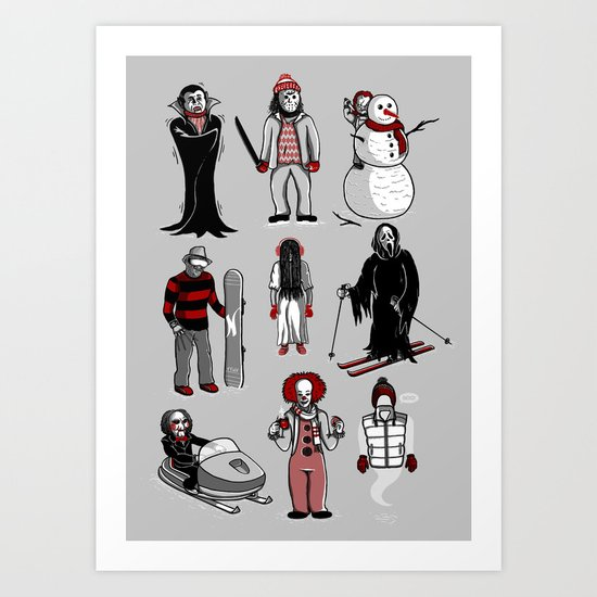Horror lives winter Art Print