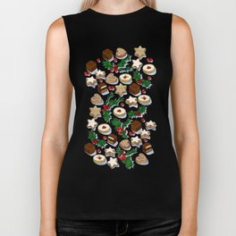 Christmas Treats and Cookies Biker Tank