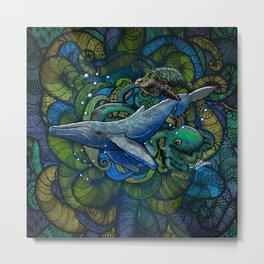 Whale Ocean Metal Print