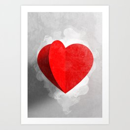 Write in your heart Art Print