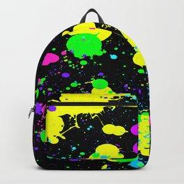 Neon Paint Splatter Backpack