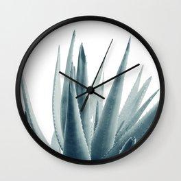Agave Blue Vibe #1 #tropical #decor #art #society6 Wall Clock