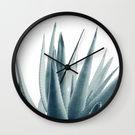 Agave Blue Vibe #1 #tropical #decor #art #society6 Wall Clock