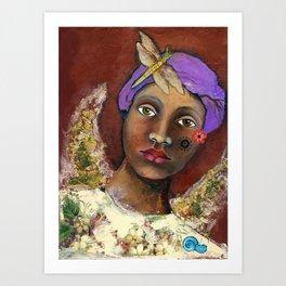 Uganda girl Art Print