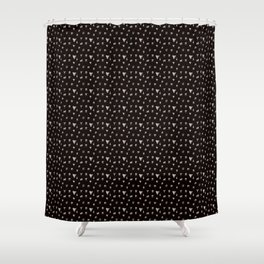 Teeth - Black Shower Curtain