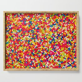 Round Sprinkles Serving Tray