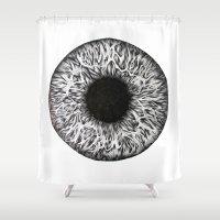 iris Shower Curtains featuring Iris by ECMazur