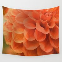 dahlia Wall Tapestries featuring Dahlia by Melissa Lund