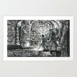 Inktober 2017: The Crypt Art Print