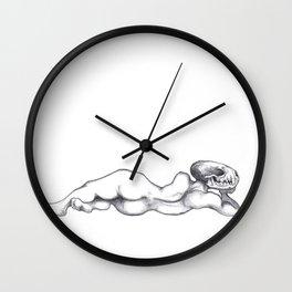 Reclining Skull Lady Wall Clock