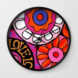 pink love power Wall Clock