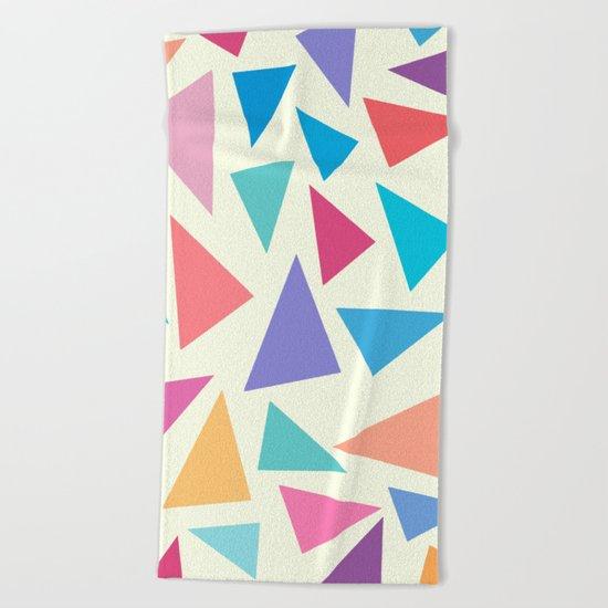 Colorful geometric pattern II Beach Towel