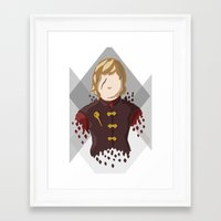 lannister Framed Art Prints featuring Tyrion Lannister by itsamoose