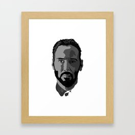 John Wick (Keanu Reeves) Framed Art Print