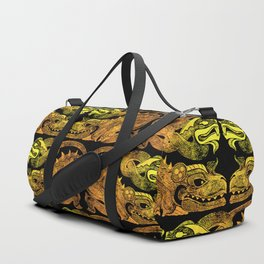 Golden two-headed dragon Duffle Bag