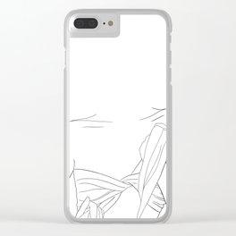 minimal line art - beach fashion Clear iPhone Case