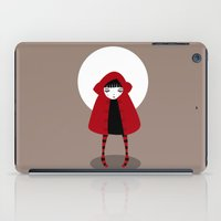 red riding hood iPad Cases featuring Little Red Riding Hood by Volkan Dalyan