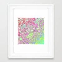 hologram Framed Art Prints featuring Hologram Wave by michiko_design