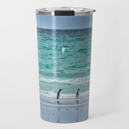 Falkland Island Seascape with Penguins Travel Mug