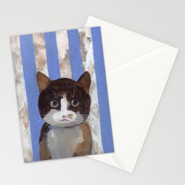 Missy or A Cat with Blue Stripes Stationery Cards