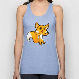 Fox; Animal Fable Unisex Tank Top
