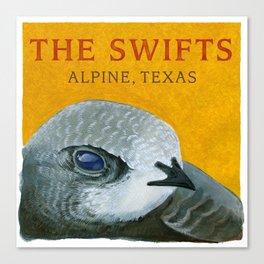 The Swifts - Alpine, Texas Swift Head Canvas Print