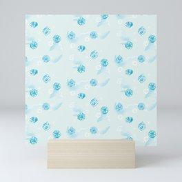 Water Spirit Polyhedral Dice Pattern Mini Art Print