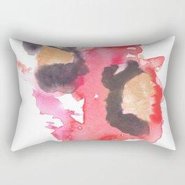 Watercolor Pink Black Flow | [dec-connect] 18. two hearts Rectangular Pillow