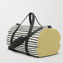 Daffodil Yellow x Stripes Duffle Bag