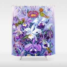 Orchids & Hummingbirds Shower Curtain