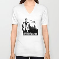 writer V-neck T-shirts featuring Richard Castle, Mystery Writer by LimitLyss