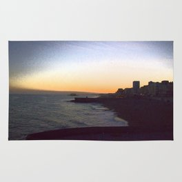 Seafront sunset Rug