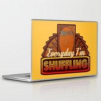 magic the gathering Laptop & iPad Skins featuring Everyday I'm Shuffling (No Dice Version)  |  Magic The Gathering by Silvio Ledbetter