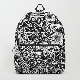 Black and White Doodle Backpack