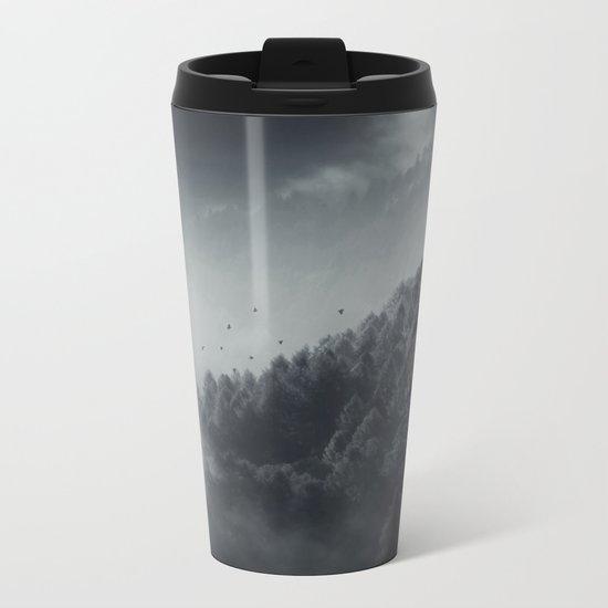 Misty Woodlands Metal Travel Mug