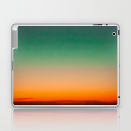 Green and Yellow Magic Dawn in the Sky (Vintage Nature Photography) Laptop & iPad Skin
