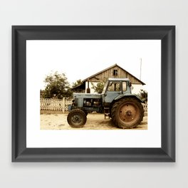 Old Tractor Framed Art Print